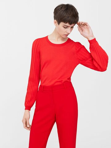 MANGO Women Red Solid Sweater MANGO Sweaters at myntra
