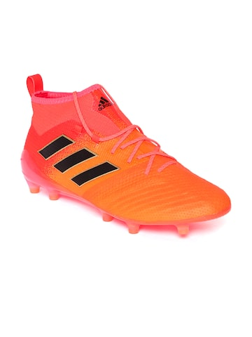 Adidas Men Orange Ace 17.1 FG Mid-Top Football Shoes Adidas Sports Shoes at myntra