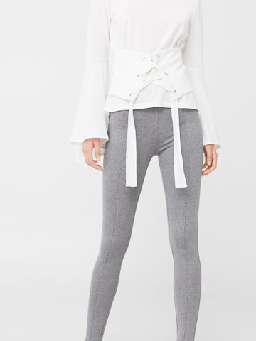 MANGO Grey Melange Treggings MANGO Jeggings at myntra