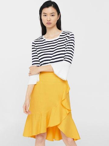 MANGO Women Yellow Solid Tulip Skirt MANGO Skirts at myntra