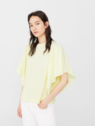 MANGO Women Yellow Solid Top MANGO Tops at myntra