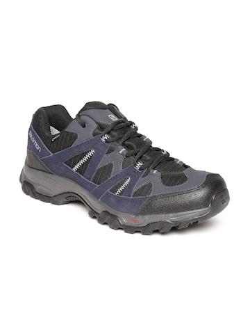 Salomon Men Navy & Black Tsingy Gtx Leather Walking Shoes Salomon Sports Shoes at myntra