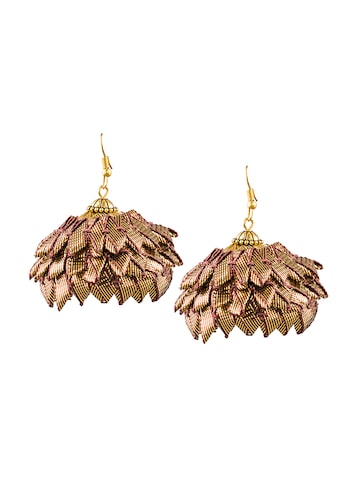 Sia Art Jewellery Gold-Toned Dome Shaped Jhumkas Sia Art Jewellery Earrings at myntra