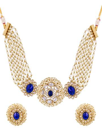 Sia Art Jewellery Gold-Toned Embellished Jewellery Set Sia Art Jewellery Jewellery Set at myntra