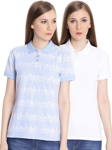 United Colors of Benetton Women Pack of 2 Polo T-shirt United Colors of Benetton Tshirts at myntra