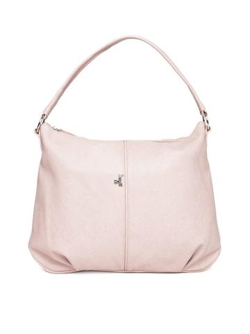 Baggit Pink Solid Shoulder Bag Baggit Handbags at myntra