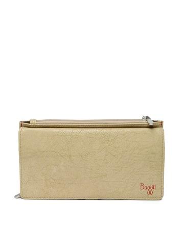 Baggit Women Beige Self Design Two Fold Wallet Baggit Wallets at myntra