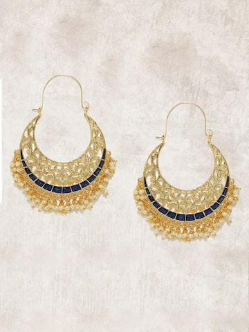 Anouk Gold-Toned Crescent Shaped Chandbalis Anouk Earrings at myntra