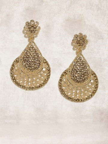 Anouk Gold-Toned Teardrop Shaped Drop Earrings Anouk Earrings at myntra