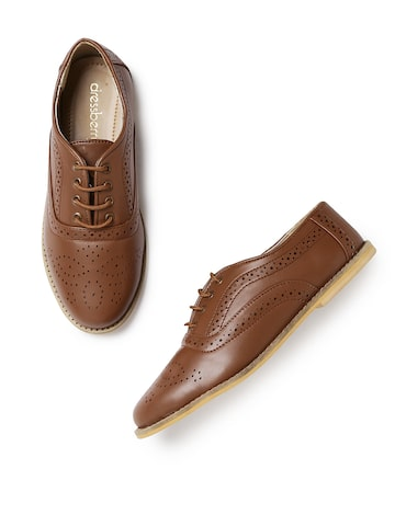 DressBerry Women Brown Brogues DressBerry Casual Shoes at myntra