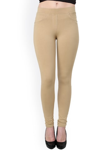 Westwood Beige Skinny Fit Jeggings Westwood Jeggings at myntra