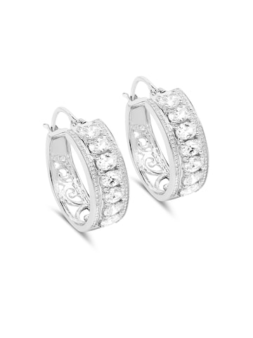 Johareez Silver Circular Hoop Earrings Johareez Earrings at myntra