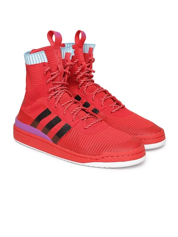 Adidas Originals Men Red Solid High-Top FORUM WINTER PK Sneakers Adidas Originals Casual Shoes at myntra