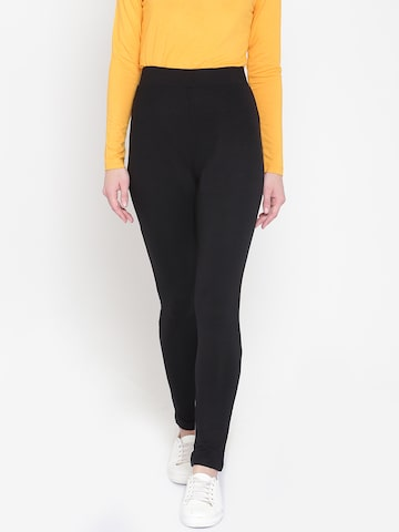 United Colors of Benetton Black Ankle-Length Leggings United Colors of Benetton Leggings at myntra