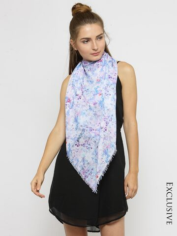 J Style Blue Printed Scarf J Style Scarves at myntra