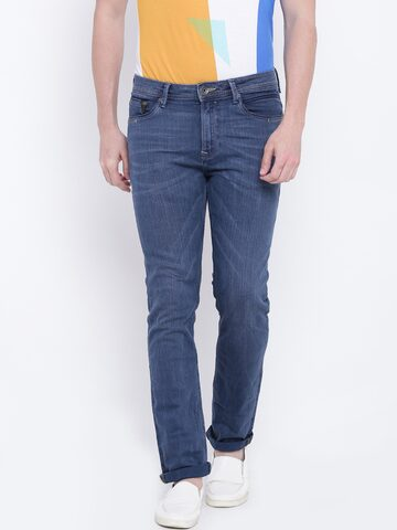 United Colors of Benetton Men Blue Comfort Fit Mid-Rise Clean Look Stretchable Jeans United Colors of Benetton Jeans at myntra