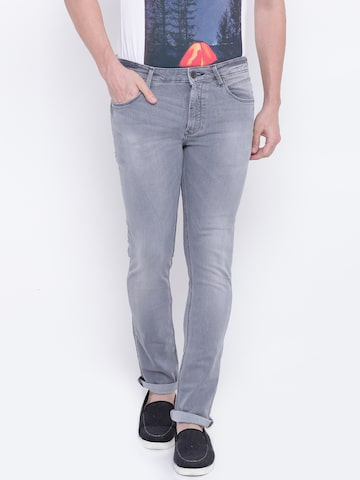 United Colors of Benetton Men Grey Tailored Skinny Fit Clean Look Stretchable Jeans United Colors of Benetton Jeans at myntra