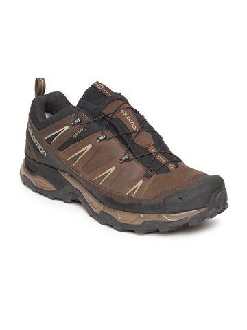 Salomon Men Brown X Ultra Ltr Gtx Trekking Shoes Salomon Sports Shoes at myntra