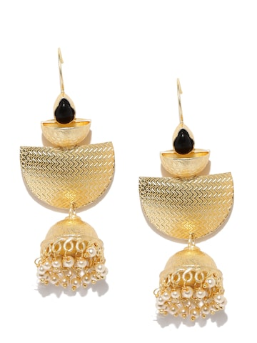 Anouk Gold-Toned Dome-Shaped Drop Earrings Anouk Earrings at myntra