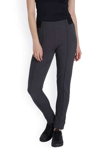 Vero Moda Grey Treggings Vero Moda Jeggings at myntra