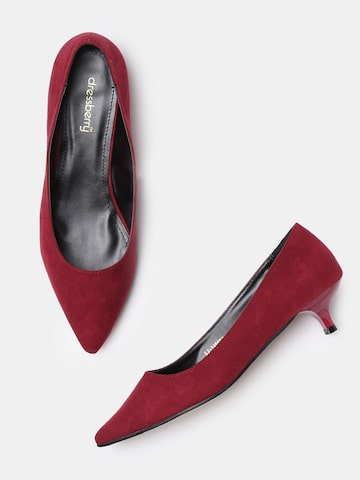 DressBerry Women Maroon Solid Pumps DressBerry Heels at myntra