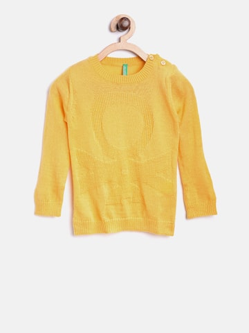 United Colors of Benetton Boys Yellow Patterned Sweater United Colors of Benetton Sweaters at myntra