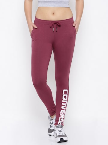 Converse Men Burgundy Track Pants Converse Track Pants at myntra