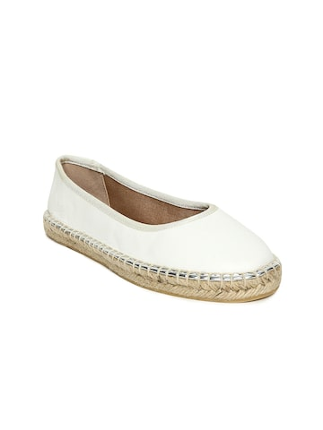 Steve Madden Women Off-White GWENNITH Leather Espadrilles Steve Madden Casual Shoes at myntra