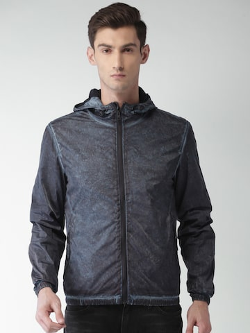 Tommy Hilfiger Men Blue Dyed Sporty Jacket Tommy Hilfiger Jackets at myntra