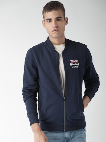 Tommy Hilfiger Men Navy Blue Solid Sweatshirt Tommy Hilfiger Sweatshirts at myntra