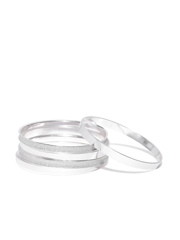Accessorize Set of 5 Silver-Toned Bangles Accessorize Bangle at myntra