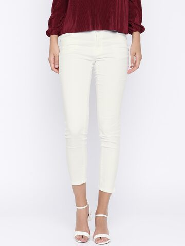 Kraus Jeans Women White Skinny Fit Mid-Rise Clean Look Jeans Kraus Jeans Jeans at myntra