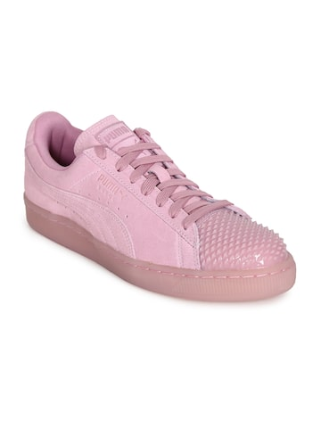 Puma Women Pink Suede Jelly Sneakers Puma Casual Shoes at myntra