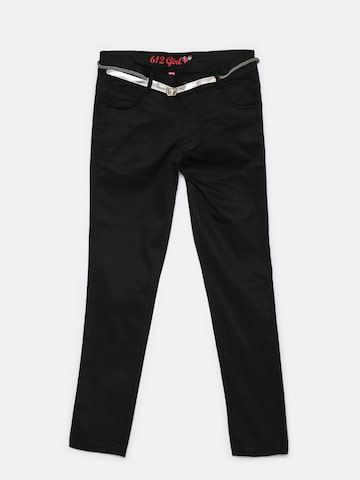 612 league Girls Black Solid Trousers 612 league Trousers at myntra