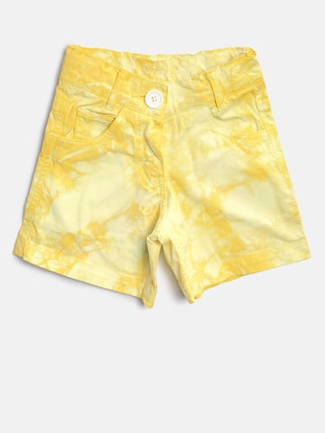 612 league Girls Yellow Dyed Regular Fit Shorts 612 league Shorts at myntra