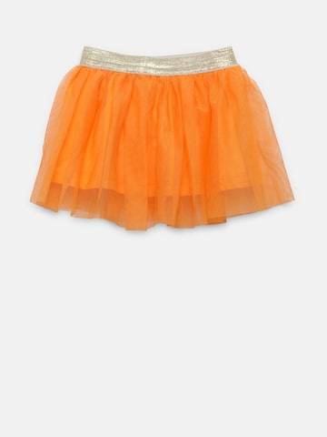 Baby League Girls Orange Net Flared Skirt Baby League Skirts at myntra