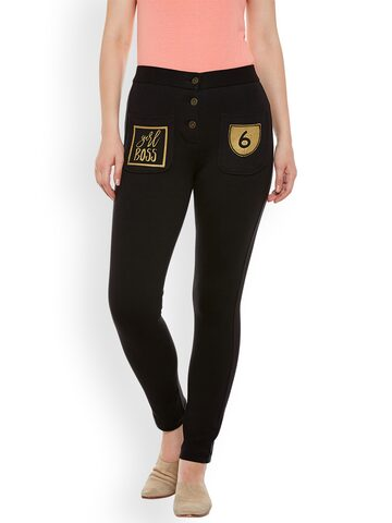 Rider Republic Women Black Jeggings Rider Republic Jeggings at myntra