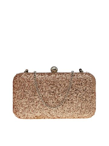 TARUSA Women Gold-Toned Sequin Embellished Box Clutch Tarusa Clutches at myntra