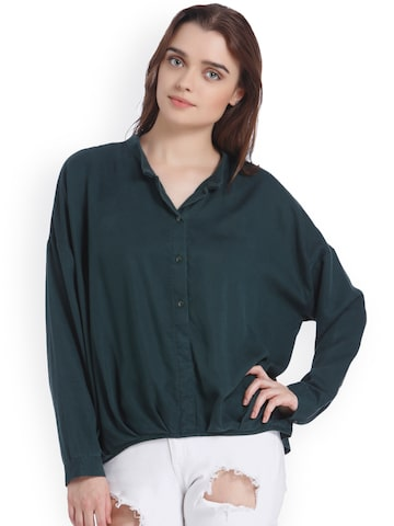 Vero Moda Women Green Shirt Vero Moda Shirts at myntra
