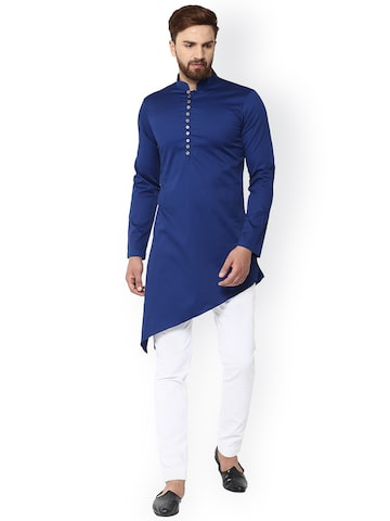 See Designs Men Blue Solid Straight Kurta See Designs Kurtas at myntra