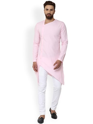 See Designs Men Pink Solid Straight Kurta See Designs Kurtas at myntra
