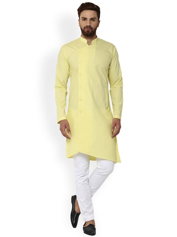 See Designs Men Yellow Solid Straight Kurta See Designs Kurtas at myntra
