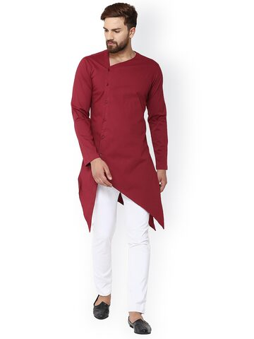 See Designs Men Maroon Solid Straight Kurta See Designs Kurtas at myntra