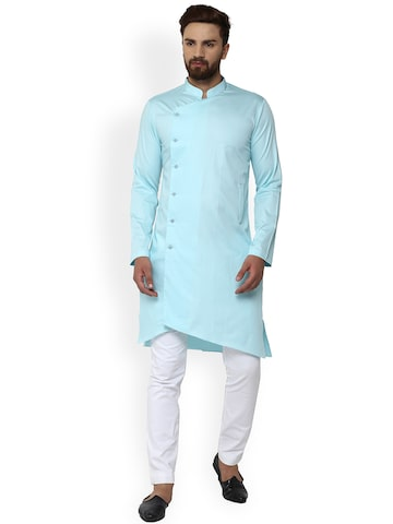 See Designs Men Sea Green Solid Straight Kurta See Designs Kurtas at myntra