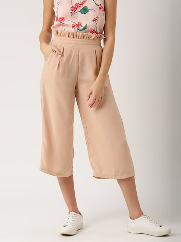 DressBerry Women Pink Regular Fit Solid Culottes DressBerry Trousers at myntra