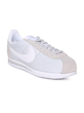 Nike Women White CLASSIC CORTEZ NYLON Sneakers Nike Casual Shoes at myntra