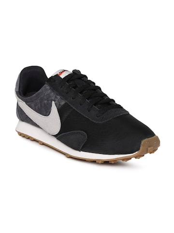 Nike Women Black PRE MONTREAL RACR Leather Sneakers Nike Casual Shoes at myntra
