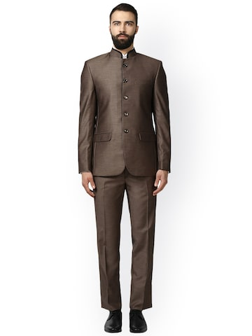 Raymond Men Brown Solid Single Breasted Suit Raymond Suits at myntra