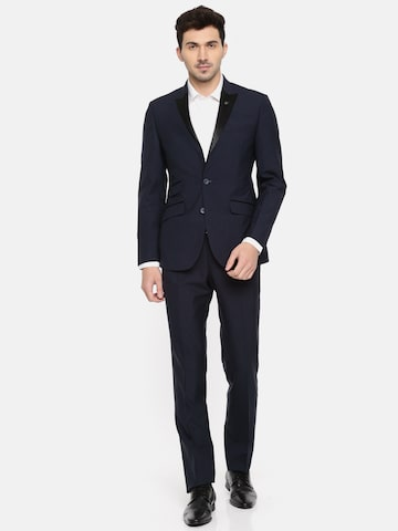 Raymond Men Navy Single-Breasted Slim Fit Tuxedo Suit Raymond Suits at myntra