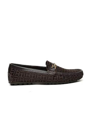 Tommy Hilfiger Men Coffee Brown Woven Design Loafers Tommy Hilfiger Casual Shoes at myntra